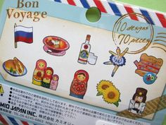 Sticker Flakes Sack Bon Voyage*Russia70 pcsSack size : L 85mm W 105mmCondition : Brand New Material …