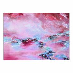 KESS InHouse Ebi Emporium 'Sea to Sky 3' Pink Abstract Dog Place Mat, 13' x 18' *** Remarkable product available now. : Dog food container