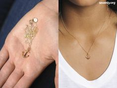 Who's your anchor? Or do you love the sea? This is more than a cute necklace... it gives back to charity! When you get it you help protect the lives of baby girls in China! Check it out >> http://www.sevenly.org/?cid=PINTERESTdale