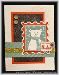 I used the spray pen, striped embossing folder, and the exclusive Oct 2014 SOTM stamp set!!  www.kristah.ctmh.com