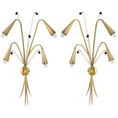 "Large Pair of ""Le Muguet"" Sconces by Maison Stilnovo 