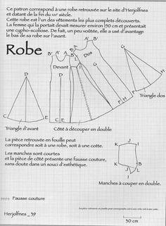 patron robe medievale - Lilo