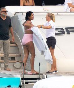 Priyanka Chopra jet skis in pink bikini and cuddles up to Nick Jonas as she celebrates her birthday Bollywood Bikini, Bollywood Girls, Bollywood Fashion, Bollywood Theme, Pink Swimsuit, Pink Bikini, Kareena Kapoor Bikini, Shraddha Kapoor, Ranbir Kapoor