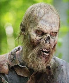 "A walker from The Walking Dead season 5, episode 3 ""Strangers""."