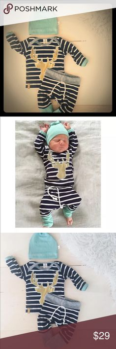 Little moose outfit baby boy Little moose Matching Sets