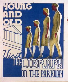 Young And Old Visit The Library On The Parkway (that's us!)