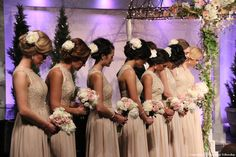 Peters/Sroda Wedding - Remnant Fellowship Weddings  Bridesmaid dresses and hair, champagne and blush