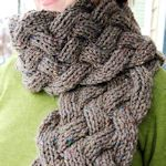 30+ Free Scarf Patterns: {Knitting}   Love love love the chunky reversible cable pictured here - done on size 13 needles.