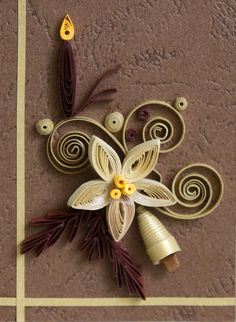 Neli Quilling Art: Quilling small cards - Christmas 8 ( 5cm / 7,5cm )