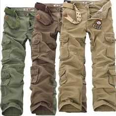 NEW MENS CASUAL MILITARY ARMY CARGO CAMO COMBAT WORK PANTS TROUSERS #Unbranded #Cargo