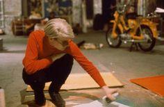 Fantastic shot of Warhol at work