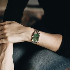 Green with envy. The Shirley Malachite watch makes the perfect fall statement