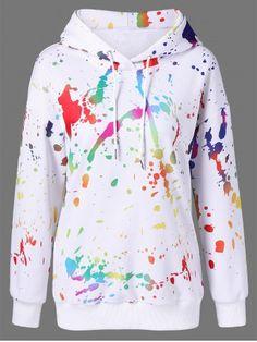 GET $50 NOW | Join RoseGal: Get YOUR $50 NOW!http://www.rosegal.com/sweatshirts-hoodies/splatter-paint-drop-shoulder-hoodie-989615.html?seid=5525820rg989615