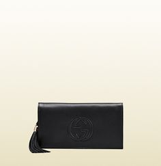 soho leather clutch