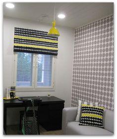 Kitchen Blinds, Roman Blinds, Marimekko, Curtains, Inspiration, Home Decor, Houses, Bedroom, Living Room