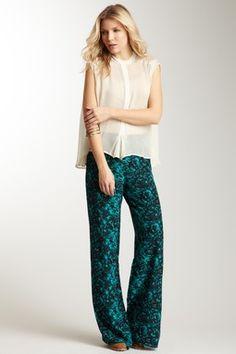 Winter Kate Silk Print Pant
