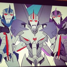 lachtna:  The silly #sketch for tonight, in progress :^v #transformers #tfp #Starscream #Thundercracker #Skywarp  Currently on this…