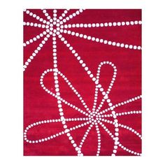 Indo Hand-tufted Red/ Ivory Wool Rug (8' x 10')
