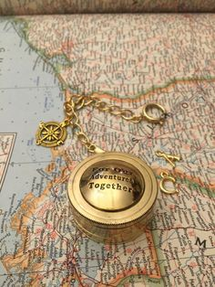 Sundial Compass For our Adventures Together Boyfriend Gift Husband Gift