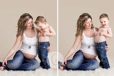 Studio maternity with toddler