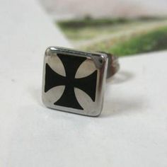 Square Single Earring Silver - One Size