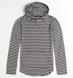 I am looking for a long sleeve shirt with black and white stripes a little wider than this.