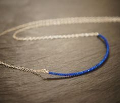 Cobalt Raw Matt Lapis Lazuli and Sterling by SkydancerJewellery