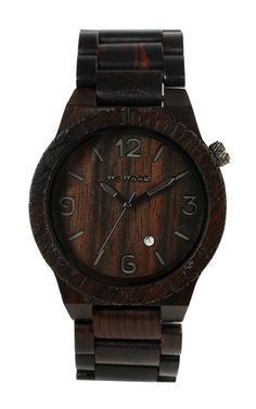 "WeWOOD ALPHA BLACK Watch  All I can say (in a southern accent) is... ""I want that."""