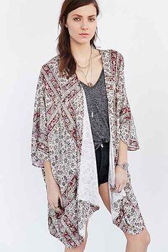 oversized tapestry kimono