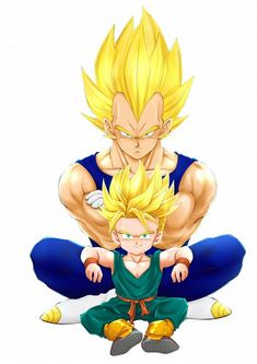 super saiyans: Vegeta and his son - Visit now for 3D Dragon Ball Z shirts now on sale!