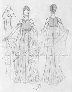 Elven dress by lady-narven.deviantart.com on @deviantART