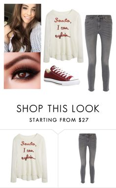 """Santa, I can explain"" by maya7277 ❤ liked on Polyvore featuring MiH Jeans, Converse, women's clothing, women, female, woman, misses and juniors"