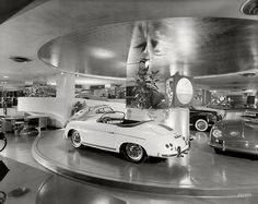 New York circa 1955. The Max Hoffman car showroom. Designed by Frank Lloyd Wright.