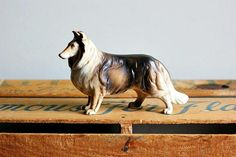 Vintage Porcelain Collie Figurine by CollieMyWorld on Etsy