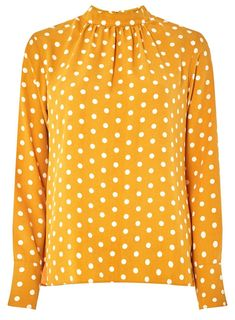389ff92c3ba2 Ochre Spotted Long Sleeve Top - View All Clothing - Clothing - Dorothy  Perkins United States