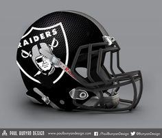 Oakland Raiders - NFL Concept Helmet by Paul Bunyan Design