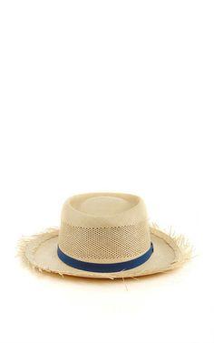 Dumont Straw Calado Hat With Frayed Brim by SENSI STUDIO Now Available on  Moda Operandi Sombreros 8fad28cab42