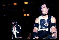 """""""L-R: Glenn Danzig, Arthur Googy, and Doyle tear things up at L.A.'s Whiskey A Go Go, April 13, 1982. Legend has it the Misfits ran afoul of Vince Neil and other members of..."""