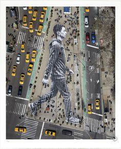 33 Works of JR Artist Touching the Walls of Cities Around the World – Sokak Sanatı (street art) Banksy Graffiti, Street Art Graffiti, Jr Art, Art Japonais, Land Art, Street Artists, French Artists, Public Art, Urban Art