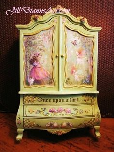 Jill Dianne Finding Fairies Dollhouse Miniature Baby House Cupboard