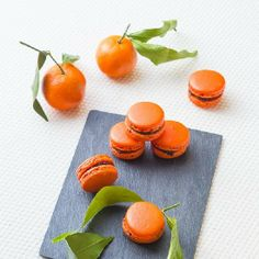 Clementine & Chocolate Macarons (in French)