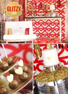 Glitzy Gold Valentine's Day Party!