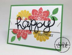 Crazy About You Birthday Card: StampingJo.com