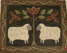 folk art primitive wood sheep - Google Search