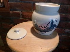 Vintage Ceramic Canister Marshall Pottery by Morethebuckles