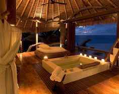 North Island Seychelles view. Wow.