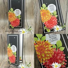 Make Smile, Paper Pumpkin, Stamping Up, Flower Cards, Stampin Up Cards, Dahlia, Handmade Cards, Sewing Crafts, Card Ideas