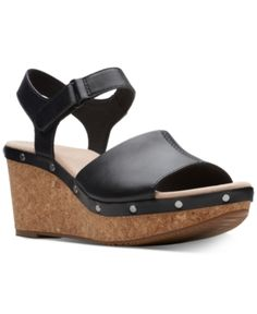 594154c2e7a5 Clarks Collection Women s Annadel Clover Wedge Sandals - Black