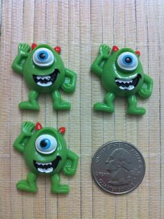 Monsters Inc Mike wazowski Inspired Flat by SuppliesAndCraft4you, $3.00