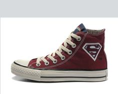 Converse All Star Chuck Taylor Shoes Superman Logo Hi-top Red Canvas
